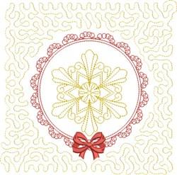 Winter Snowflake Block embroidery design