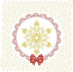 Winter Snowflake Quilt embroidery design