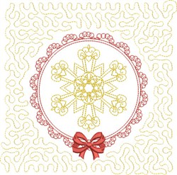 Winter Quilt Square embroidery design
