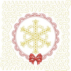 Snowflake Winter Block embroidery design
