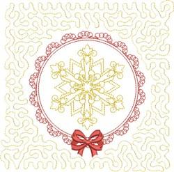 Winter Snowflake Square embroidery design