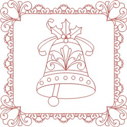 Christmas Bell Block embroidery design