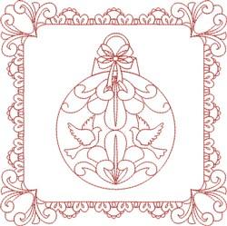 Ornament Block embroidery design