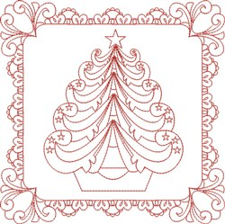 Tree Quilt Block embroidery design