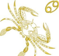 Cancer Zodiac Quilt Block embroidery design