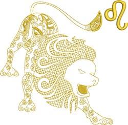 Leo Zodiac Quilt Design embroidery design