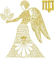 Virgo Zodiac Quilt Block embroidery design