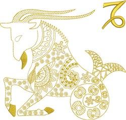 Capricorn Zodiac Quilt Block embroidery design