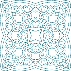 Crazy Doily Quilt Block embroidery design