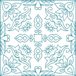 Flowers Quilt Block embroidery design