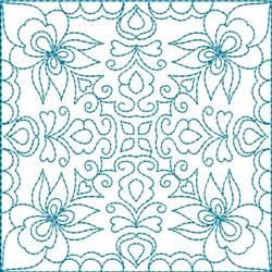 Quilt Block Florals embroidery design