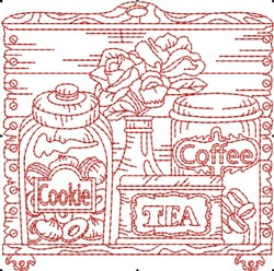 Kitchen Canister Block embroidery design