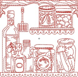 Kitchen Shelf Quilt Block embroidery design