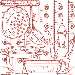 RW Kitchen Quilt Block embroidery design