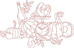 Vintage Fall Squash embroidery design