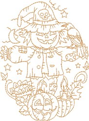 Halloween Scarecrow embroidery design