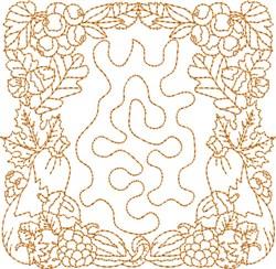 Fall Stipple Block embroidery design