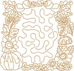 Autumn Stipple Block embroidery design