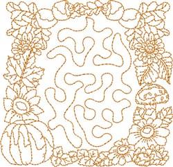 Fall Stipple Square embroidery design