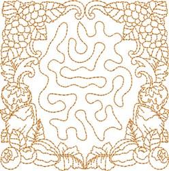 Autumn Stipple Square embroidery design