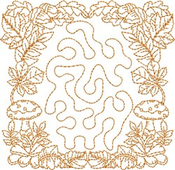 Fall Season Block embroidery design