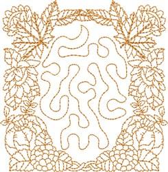 Autumn Season Block embroidery design