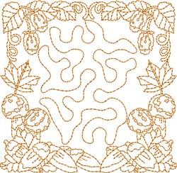 Fall Season Square embroidery design