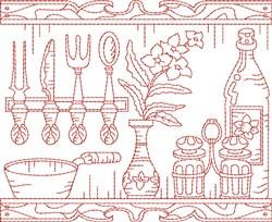 Kitchen Quilt Block embroidery design