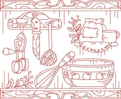 Baking Quilt Block embroidery design