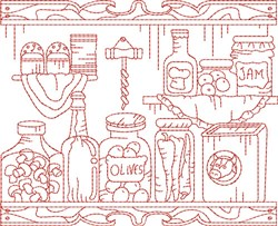 Frontier Pantry Quilt Block embroidery design