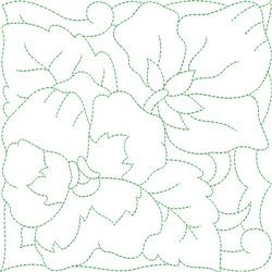 Pansy Bouquet Quilt Block embroidery design