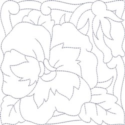 Pansy Garden Quilt Block embroidery design