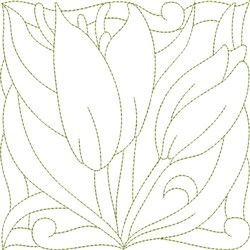 Amaryllis Quilt Block embroidery design