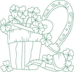 Shamrock Block embroidery design
