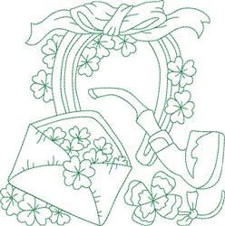 Irish Block embroidery design