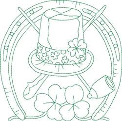 Irish Symbol Block embroidery design