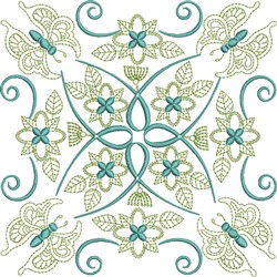 Butterfly Quilt Block embroidery design