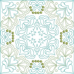 Multi Color Motif Quilt Block embroidery design