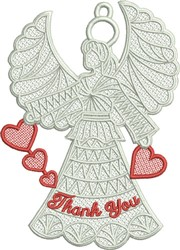 Free Standing Lace  Heart Angel  embroidery design