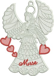 FSL Nurse Angel embroidery design