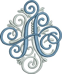 Adorn Monogram A embroidery design