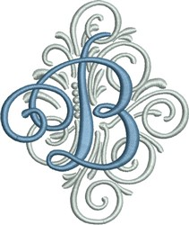 Adorn Monogram B embroidery design
