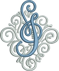 Adorn Monogram I embroidery design