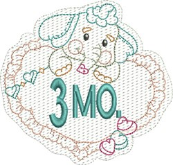 Baby 3 Months embroidery design