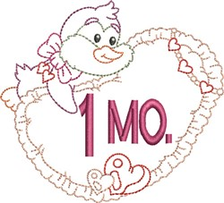 Baby 1 Month embroidery design