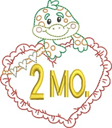 Baby 2 Month Outline embroidery design