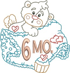 Baby 6 Month embroidery design