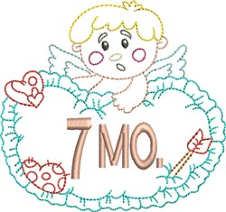 Baby 7 Month embroidery design