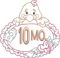 Baby 10 Month embroidery design