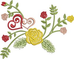 Valentine Roses embroidery design